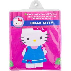 Hello Kitty Window Panel With Tie Back.